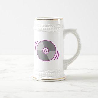 Purple Spinning CD Beer Stein