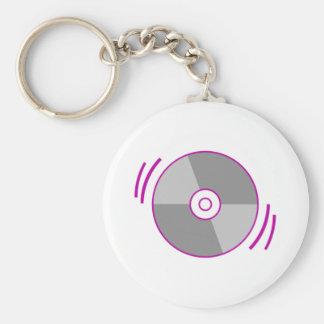 Purple Spinning CD Key Chains
