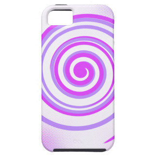 Purple Spiral 5 iPhone 5 Cases