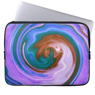 Purple Spiral Abstract Art 2 Laptop Sleeve