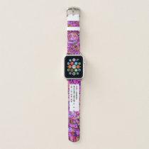Purple Spiral   Abstract Art Medical Alert ID Apple Watch Band
