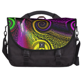 Purple Spiral Abstract Commuter Laptop Bag