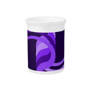 Purple Spiral Beverage Pitcher