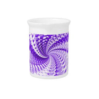 Purple Spiral Beverage Pitchers