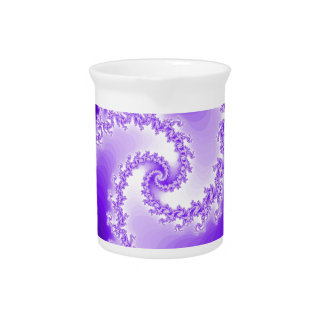 Purple Spiral Drink Pitcher