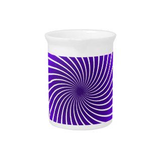Purple Spiral Drink Pitchers