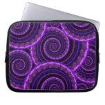 Purple Spiral Fractal Art Pattern Computer Sleeve