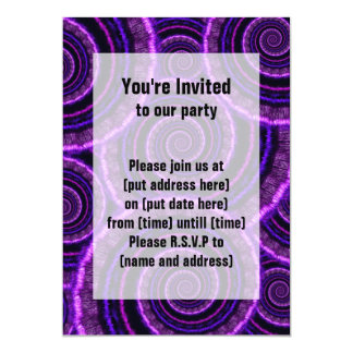 Purple Spiral Fractal Art Pattern Card
