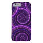 Purple Spiral Fractal Art Pattern iPhone 6 Case