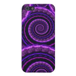 Purple Spiral Fractal Art Pattern Cases For iPhone 5