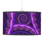 Purple Spiral Fractal Art Pattern Lamps