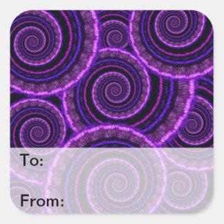 Purple Spiral Fractal Art Pattern Stickers