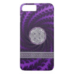 Purple Spiral Fractal Celtic Knot iPhone 7 Case