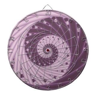 Purple Spiral Fractal Dart Board