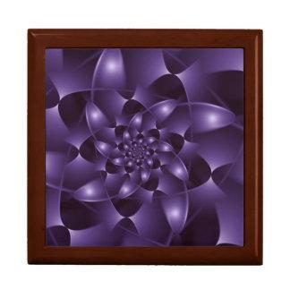 Purple Spiral Fractal  Gift Box
