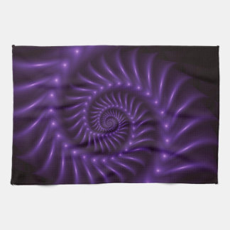 Purple Spiral Fractal Kitchen Towel