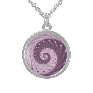 Purple Spiral Fractal  Necklace