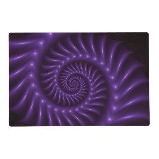 Purple Spiral Fractal Placemat