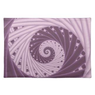 Purple Spiral Fractal Placemats Cloth Placemat
