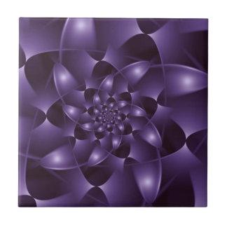 Purple Spiral Fractal Tile