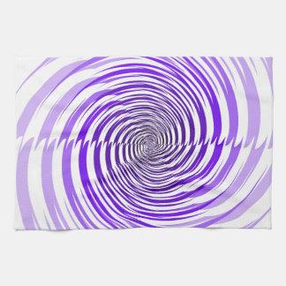 Purple Spiral Kitchen Towel