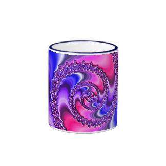 Purple Spiral Coffee Mugs