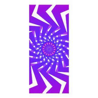 Purple Spiral Pattern Vector Art Rack Card Design