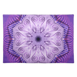 Purple Spiral Placemat
