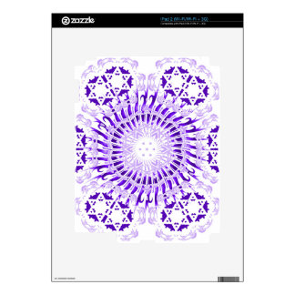 Purple Spiral Skin For The iPad 2
