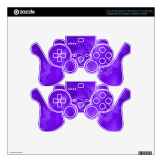 Purple Spiral Skins For PS3 Controllers