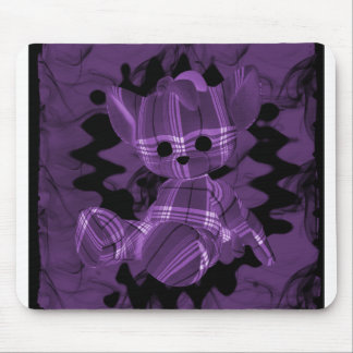 Purple Spiral Smoke Teddy Bear Mouse Pad