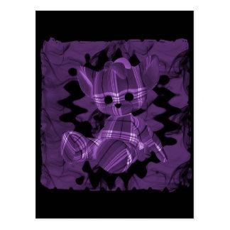 Purple Spiral Smoke Teddy Bear Postcard