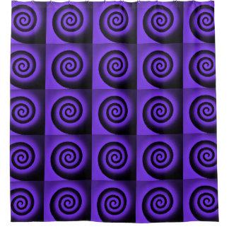 purple spirals pattern shower curtain