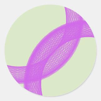 purple spiritual fulfillment classic round sticker