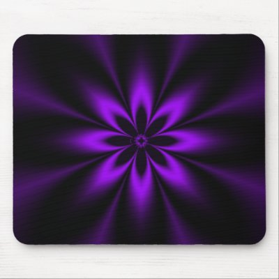 Purple Splash Burst Fractal Mousepads