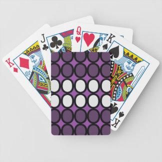 Purple Splash of O's Bicycle Playing Cards