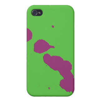 purple splatter cover for iPhone 4