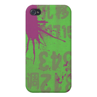purple splatter iPhone 4 case