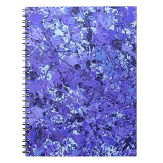 Purple splatter paint notebook