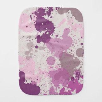 Purple Splatter Pattern - Baby Burp Cloth