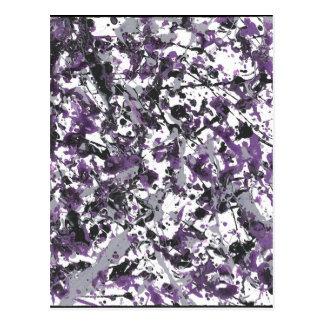 Purple Splatter Postcard