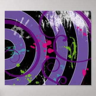 Purple Splatter Poster