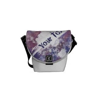 Purple Splatterpaint Messenger Bag
