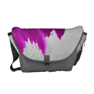 Purple Splotch Courier Bag