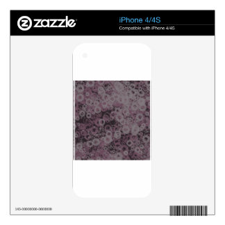 Purple Splotches Decals For The iPhone 4
