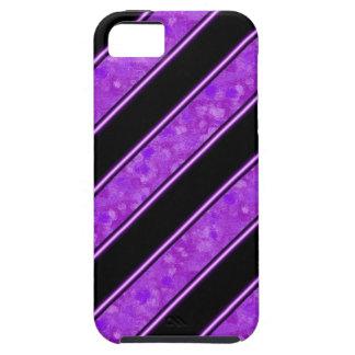 Purple Sponge Paint Stripes iPhone SE/5/5s Case