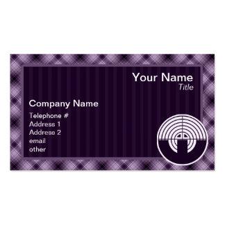 Purple Sport Shooting Business Card