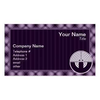 Purple Sport Shooting Double-Sided Standard Business Cards (Pack Of 100)