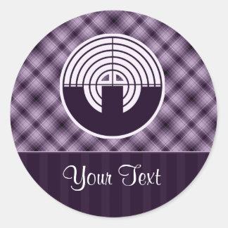 Purple Sport Shooting Round Sticker