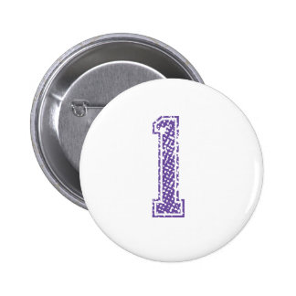 Purple Sports Jerzee Number 01 Pinback Button